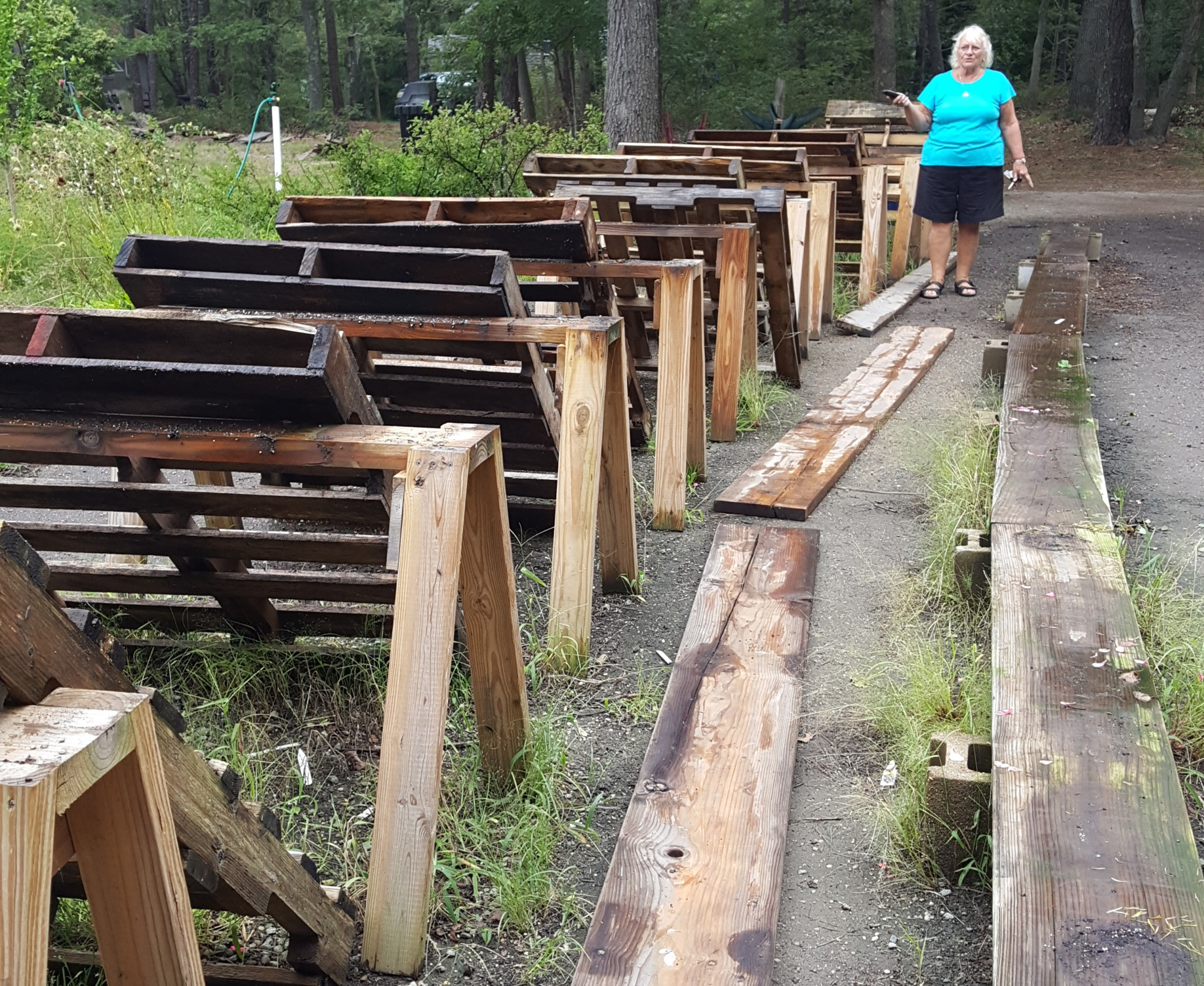 Wooden Pallets at MV Greenhouse to display plants and flowers on